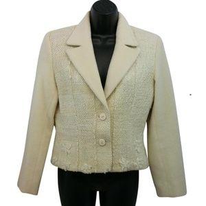 Alta Costura Woven  Wool Jacket S Blazer
